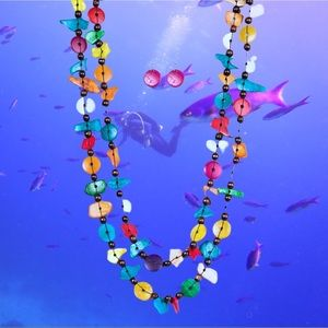 Livin the Tropical Life Multi Wooden Necklace Set